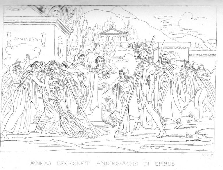 Aeneas begrüßt Andromache (großes Bild)