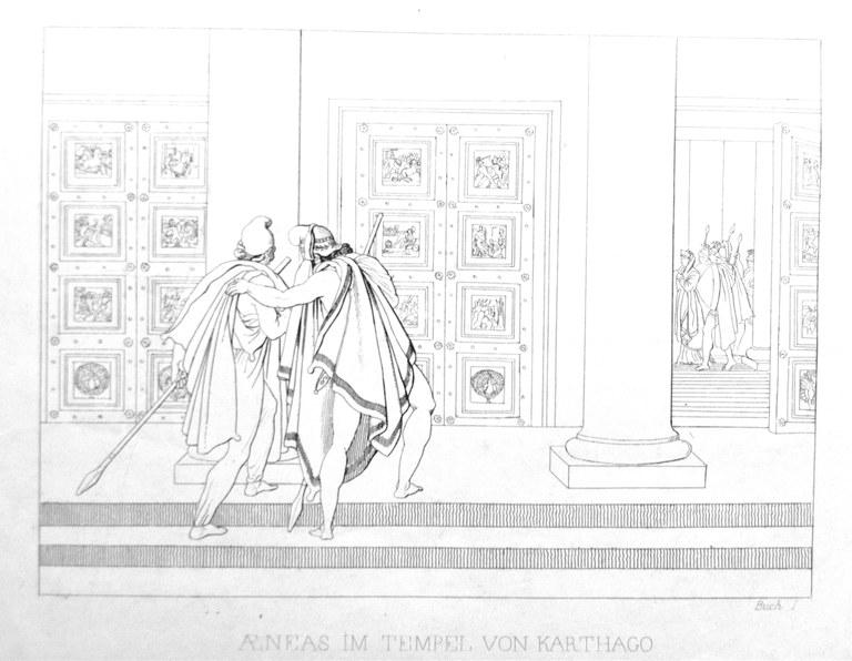Aeneas im Tempel von Karthago (großes Bild)