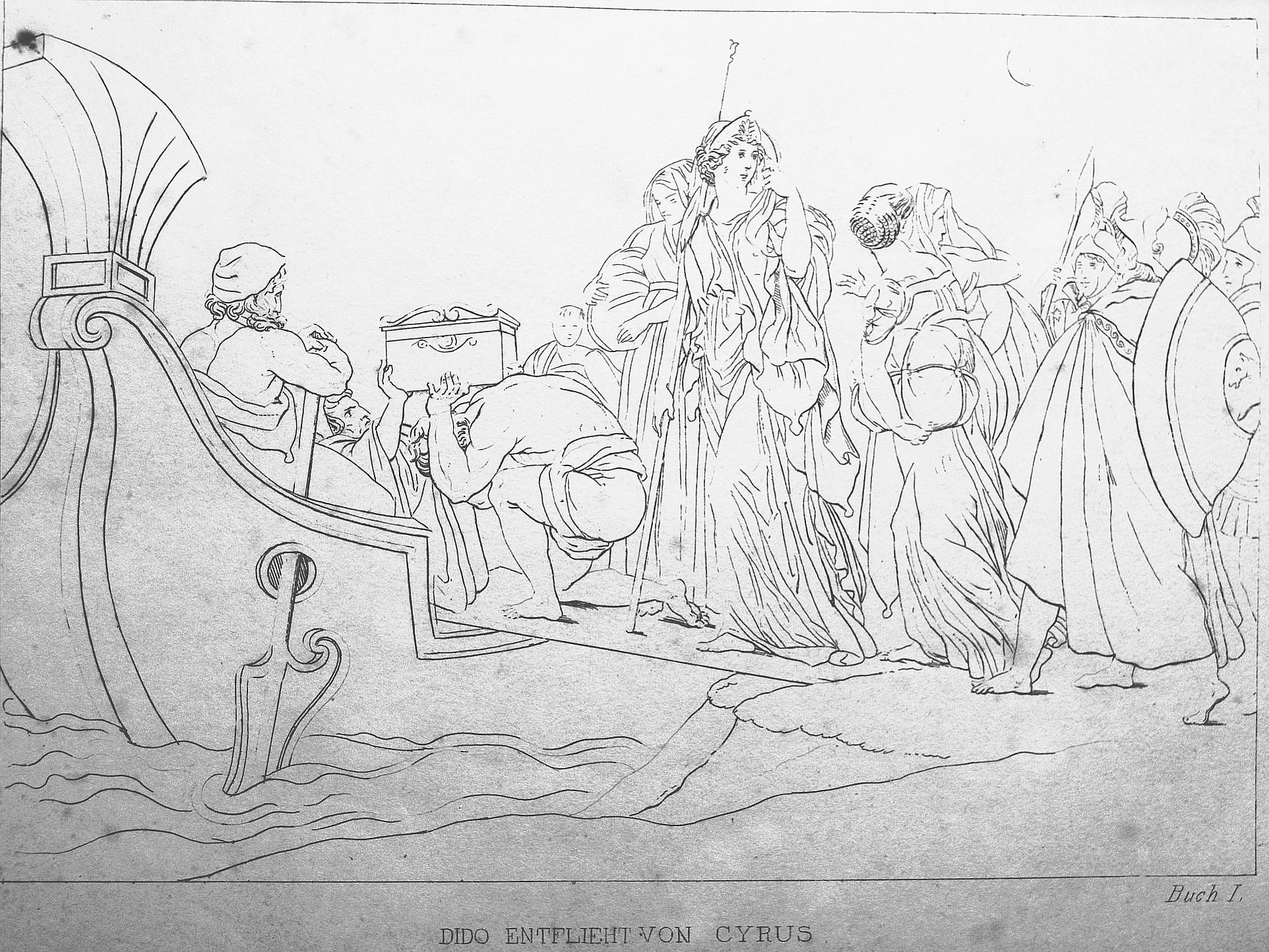 Dido entflieht von Tyrus - Vergil, Aeneis, großes Bild