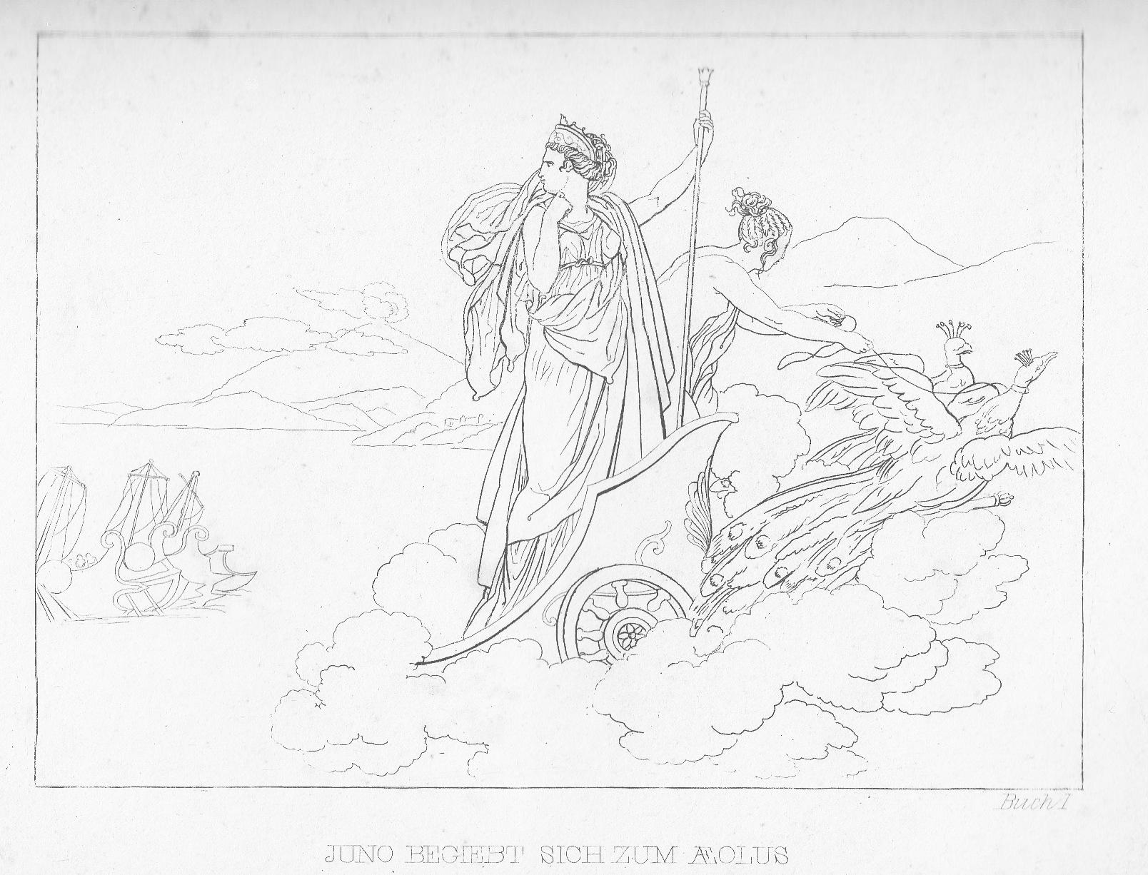 Iuno fährt zu Aeolus