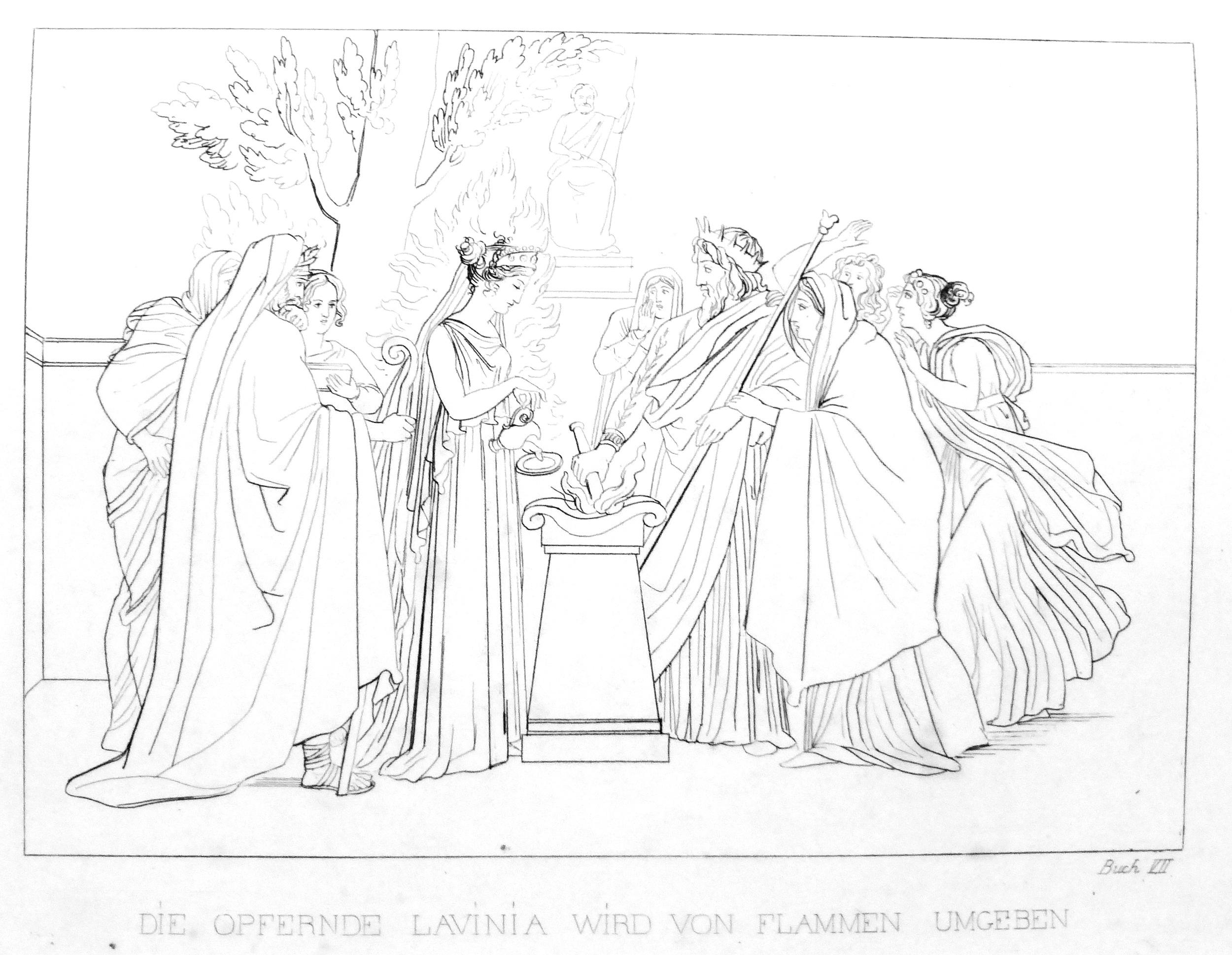 Das Opfer der Lavinia (Aeneis Buch 7) - großes Bild