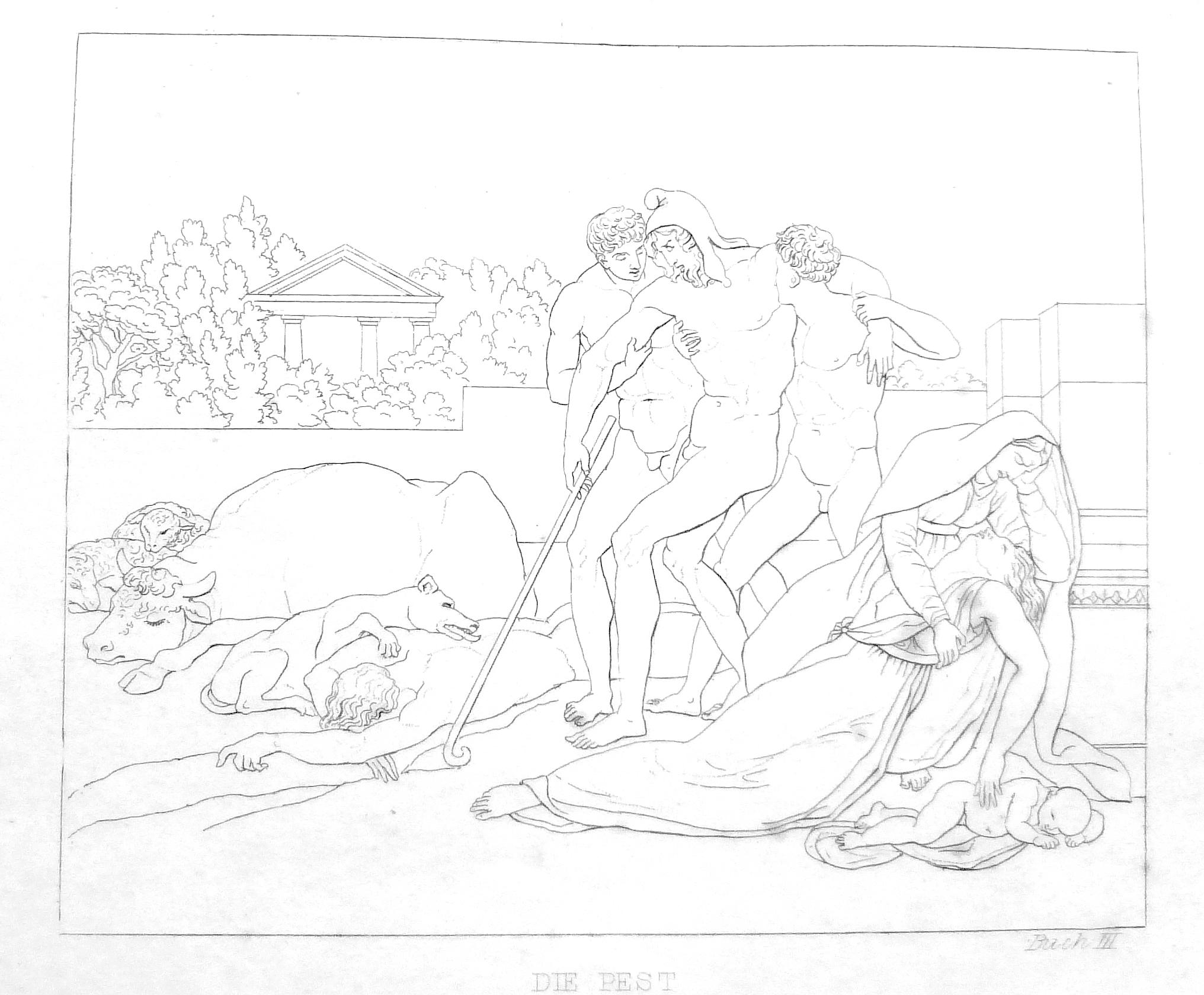 Die Troianer leiden unter der Pest - Vergil, Aeneis, Buch 3