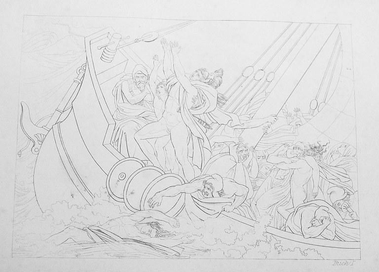 Die Troianer im Seesturm (großes Bild) - Vergil, Aenis