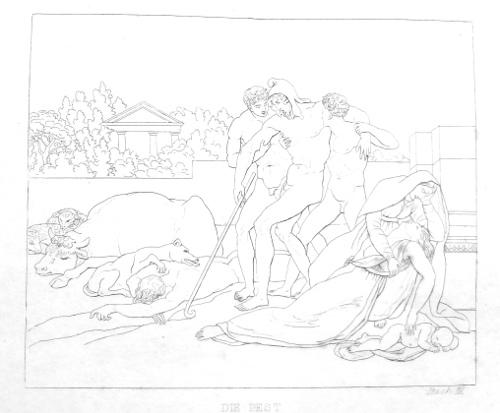 Die Troianer leiden unter der Pest - Aeneis, Buch 3
