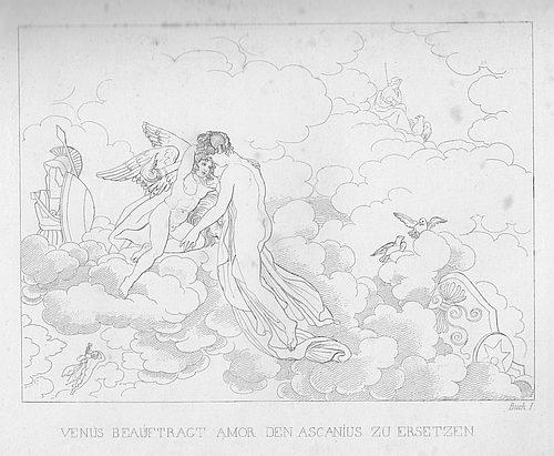 Venus beauftragt Amor