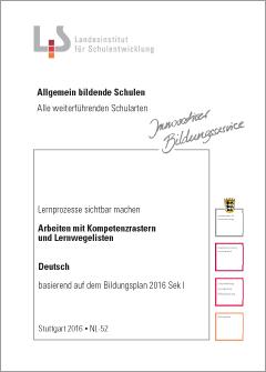 Handreichungen – Deutsch – Kompetenzraster - Lernwegelisten - Lernmaterialien