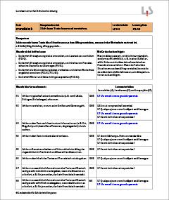 Französisch als zweite Fremdsprache – Lernwegeliste F3.03 – Kompetenzbereich 3: Ich kann Texte lesen und verstehen. – Kompetenz: Ich kann sehr kurze Texte über Situationen aus dem Alltag verstehen, wenn mir der Wortschatz vertraut ist.