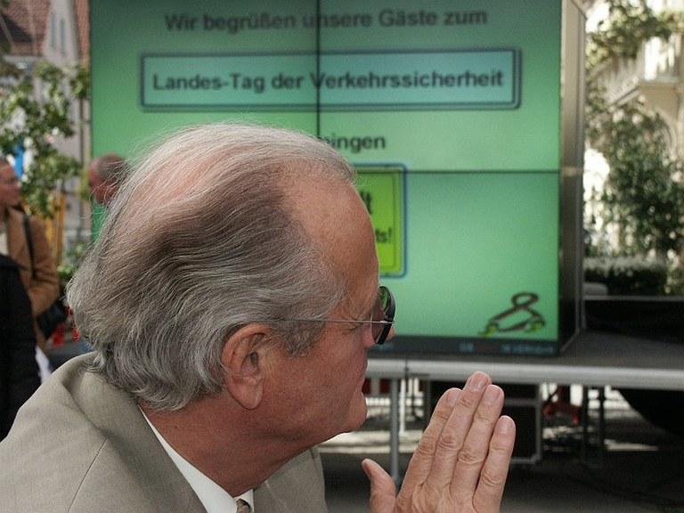 Frieder Birzele war 1992 Innenminister